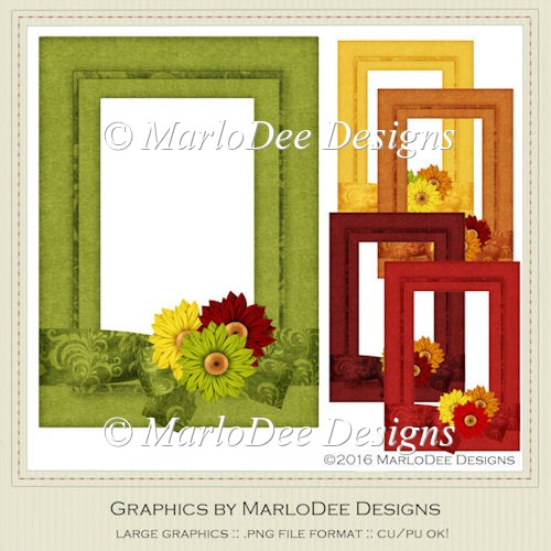 Fall Season 1 Colors Decorated Frames