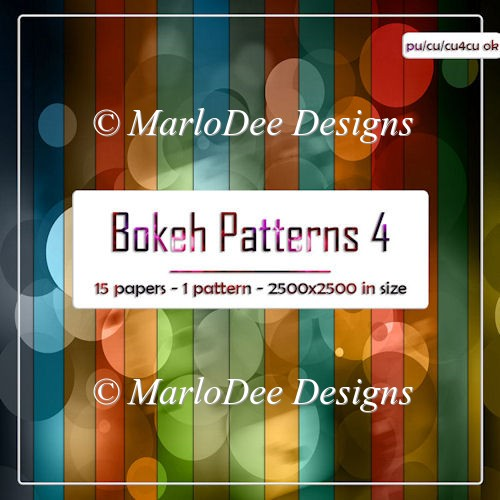 Colorful Bokeh Pattern 4 Digital Papers