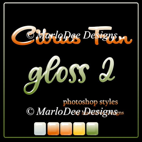 Citrus Fun Gloss 2 Photoshop Styles by MarloDee Designs