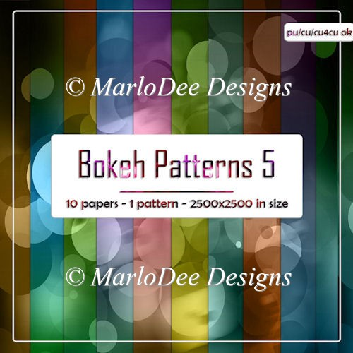 Colorful Bokeh Pattern 5 Digital Papers