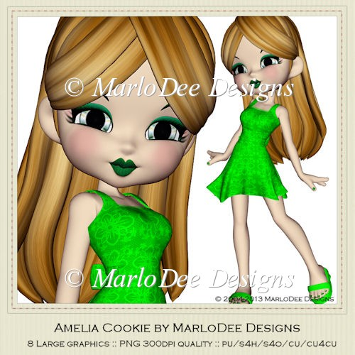 Amelia Cookie Poser Graphics by MarloDee Designs - Click Image to Close