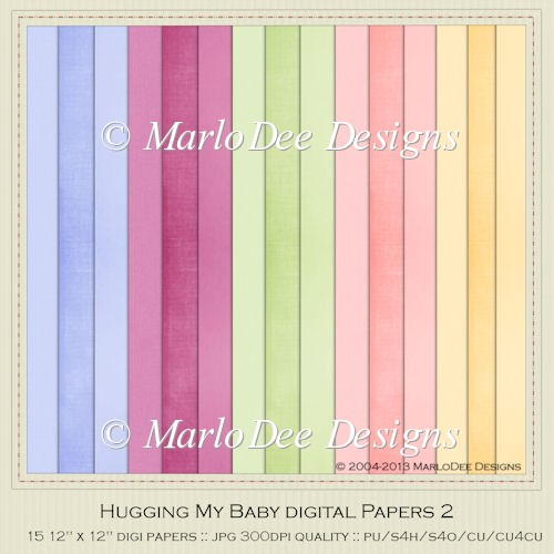 Hugging My Baby Card Stock Digital Papers 2