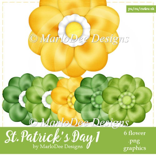 St. Patrick's Day Colors 1 - Flower Graphics 1