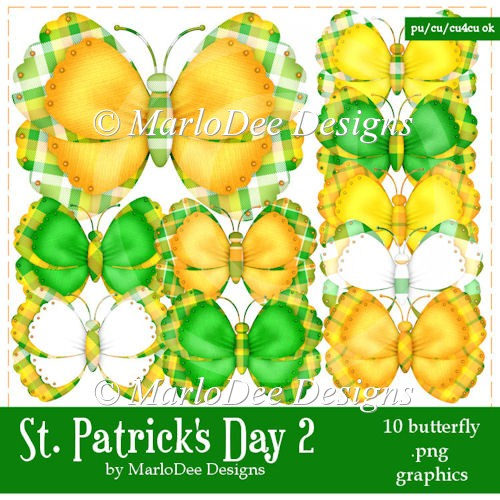 St. Patrick's Day Colors 2 - Butterfly Graphics 2 - Click Image to Close