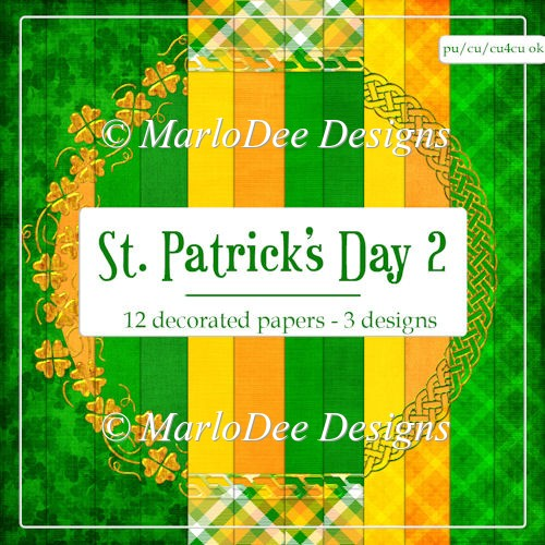St. Patrick's Day Colors 2 - Pattern Papers 3