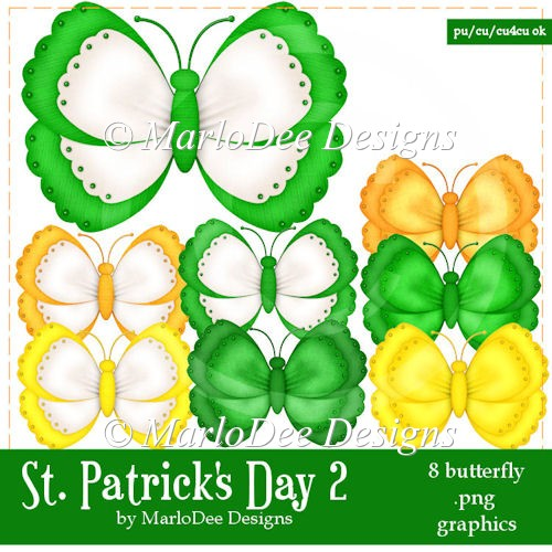 St. Patrick's Day Colors 2 - Butterfly Graphics 1