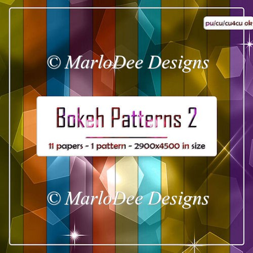 Colorful Bokeh Pattern 2 Digital Papers