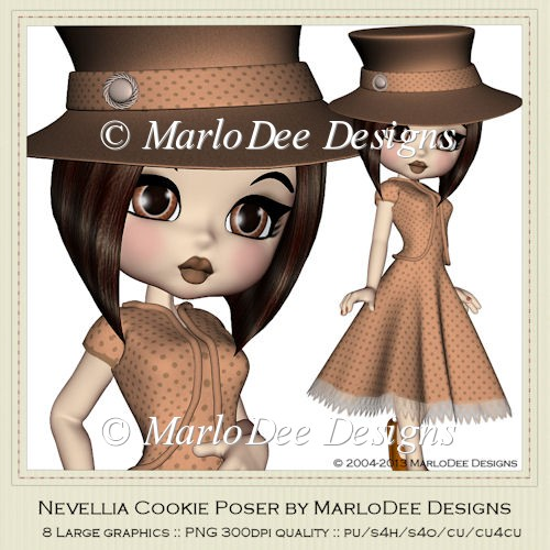 Nevellia Cookie Poser Graphics by MarloDee Designs