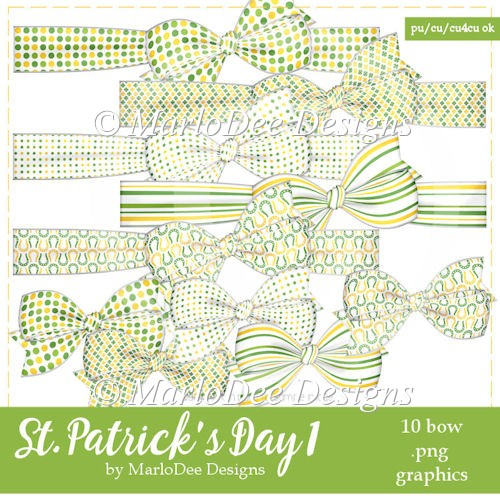 St. Patrick's Day Colors 1 - Bow Graphics 2