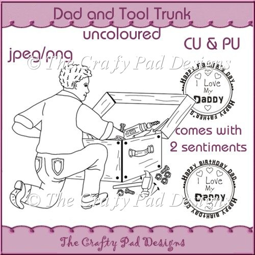 Dad and Tool Trunk UNColoured
