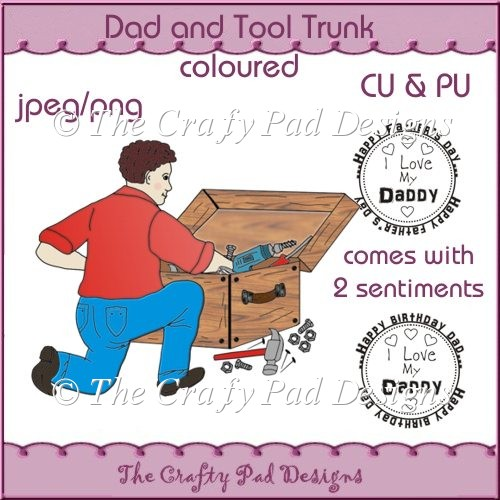 Dad and Tool Trunk Coloured