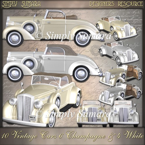 Designer Resource 10 Vintage Cars