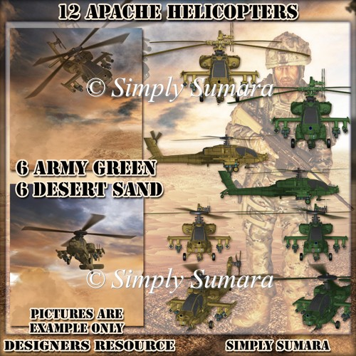 Desiger Resource 12 Apache Helicopters
