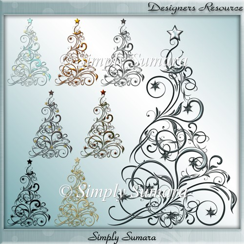 Designer Resource 8 Christmas Trees
