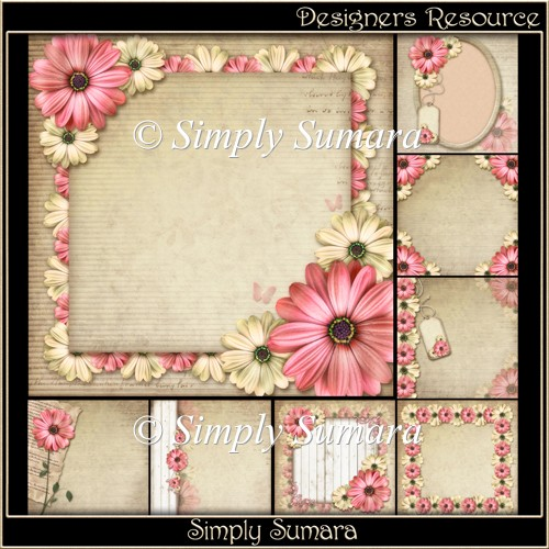Designers Resource Floral Papers Set One