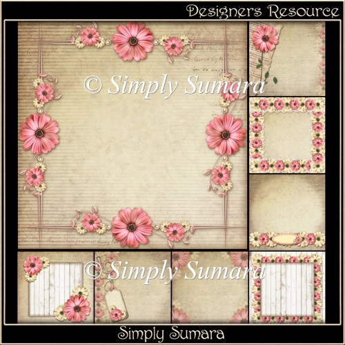 Designers Resource Floral Papers Set Two