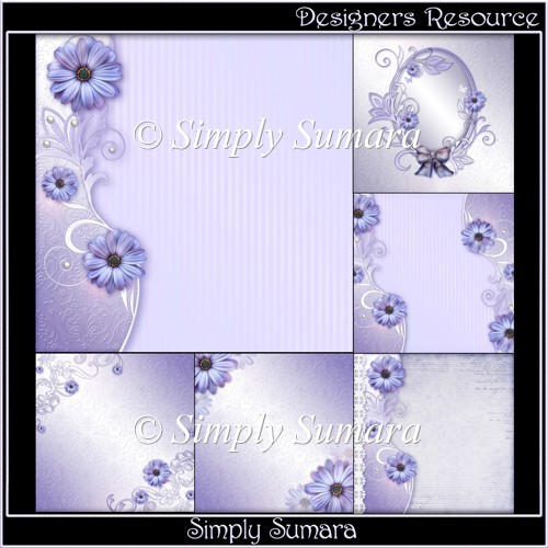 Designers Resource Purple Bloom Papers