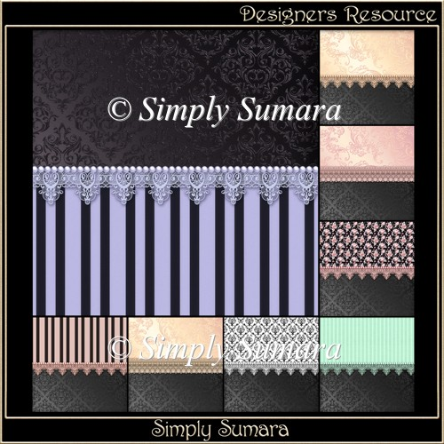 Designer Resource Lace Trim Papers 3