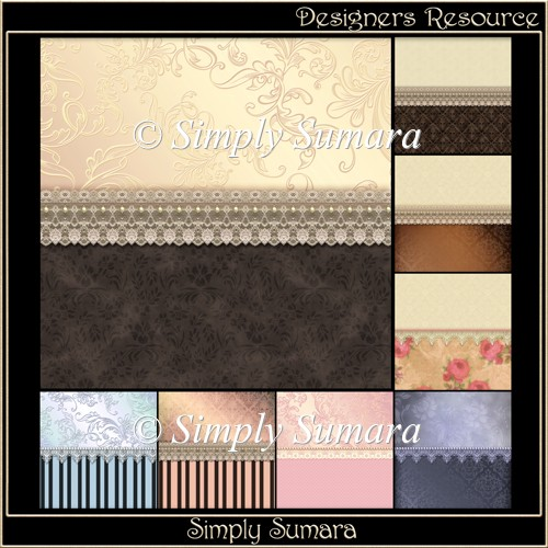 Designer Resource Lace Trim Papers 2