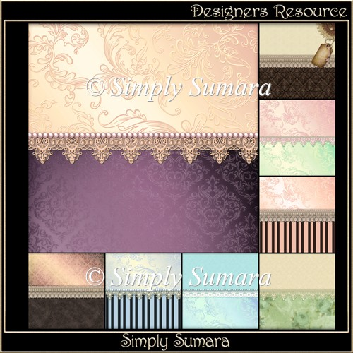Designer Resource Lace Trim Papers 1