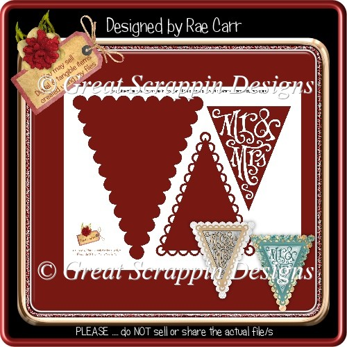 T042 Pennant Template *PNG*