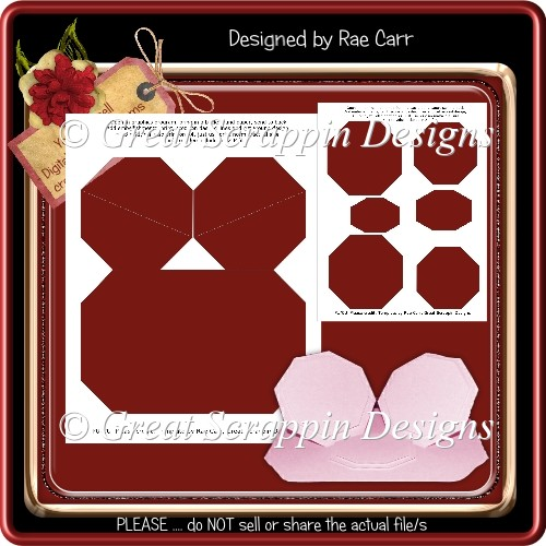 Double Easel Card Template PNG & PDF