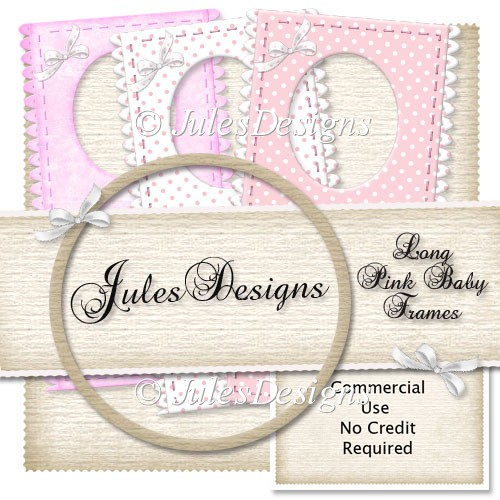 Long Pink Baby Frames