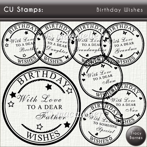 CU Stamps: Birthday Wishes