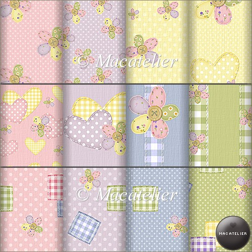 A4 Backing Papers: Patchwork