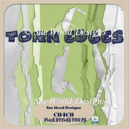 Designer Resource Torn Paper Edges and Styles