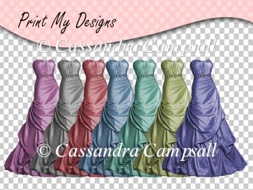 Ladies Gowns Satin Gown in 7 colors cu4cu ok