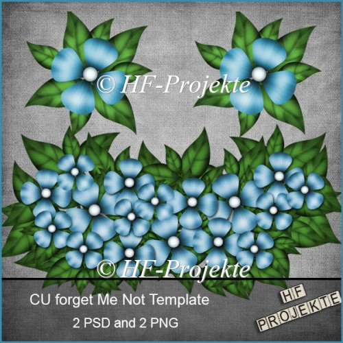 CU forget Me Not Templates - Click Image to Close