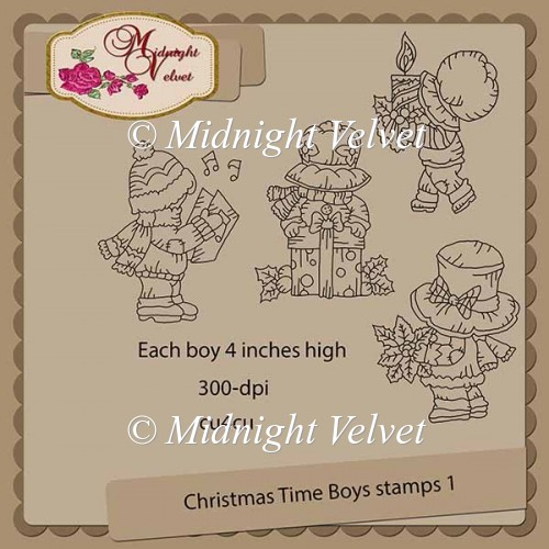 Christmas Time Boys Stamps 1