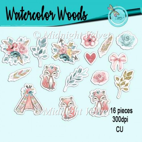 Watercolor Woods Stamps - Click Image to Close