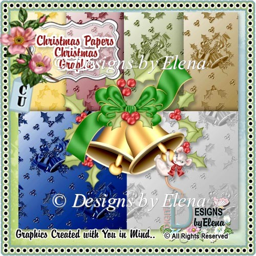 Christmas Papers and Christmas Graphic