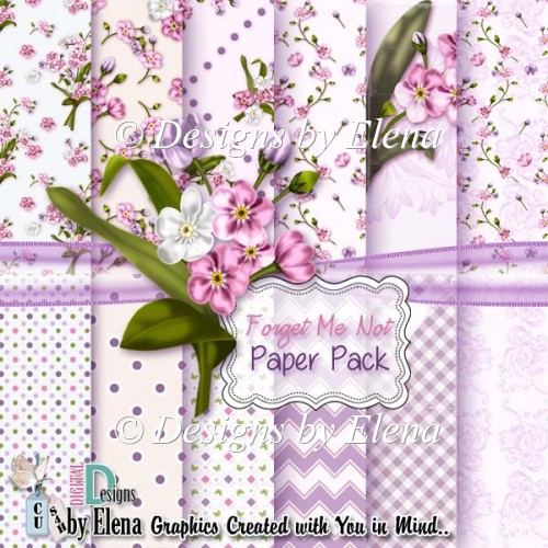 Forget Me Not Paper Pack