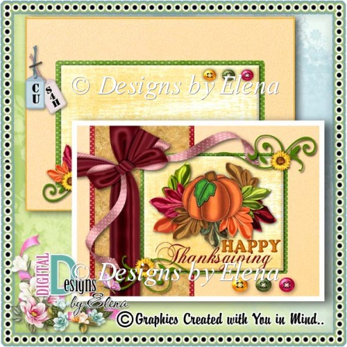 Autumn PSD Layered Card Front 03