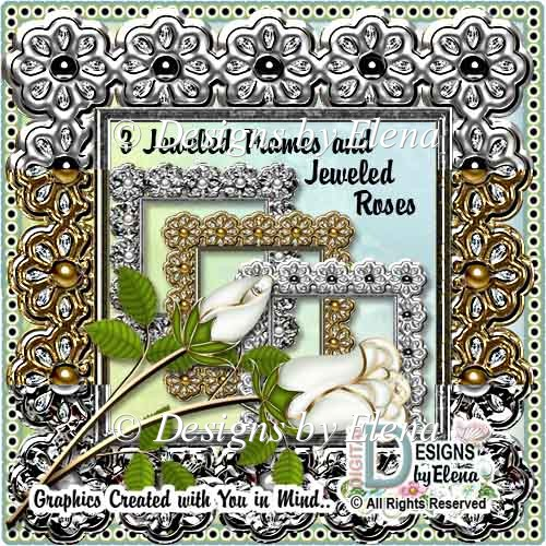 Jeweled Frames and Jeweled Roses