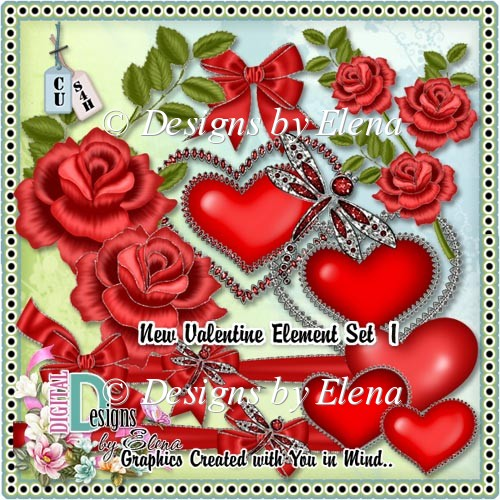 New Valentine Element Set 1