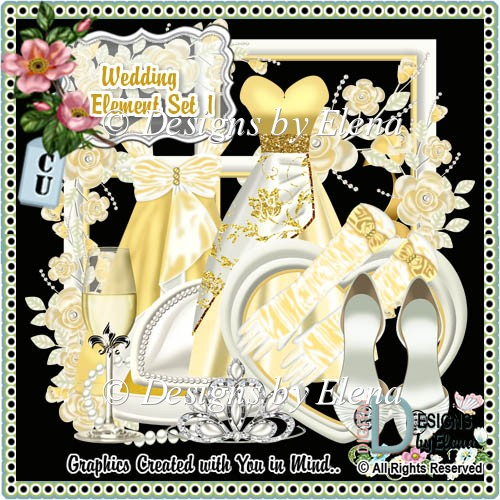 Wedding Element Set 1 - Click Image to Close