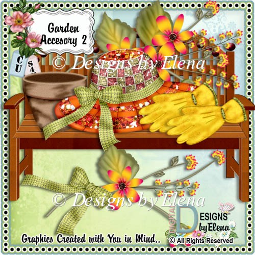 Garden Accessory Set 2 Fall Color