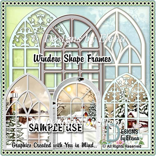 Church Window Shape Frames