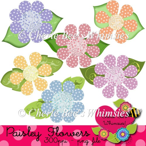 Paisley Flowers With Polka Dots