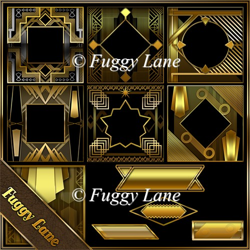 Art Deco Frames And Tiles Resource Pack
