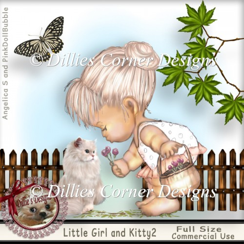 Little Girl and Kitty 2