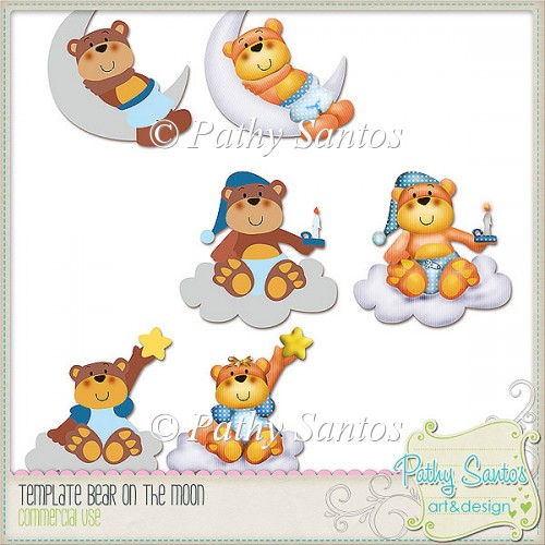Template bears on The Moon Pathy Santos