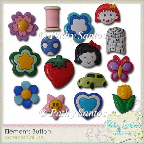 Elements Button Pathy Santos