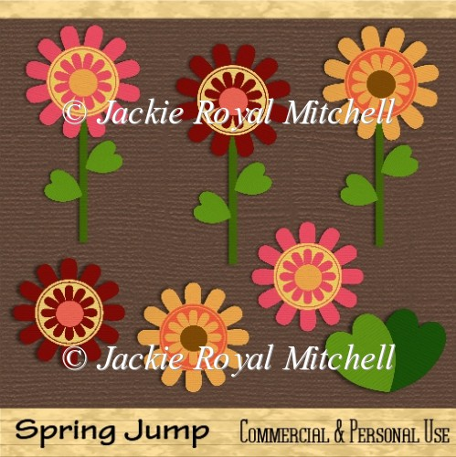 Spring jump clipart graphics