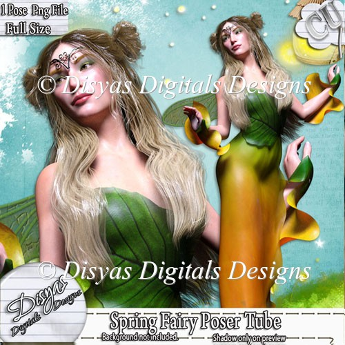 SPRING FAIRY POSER TUBE PACK CU - Click Image to Close