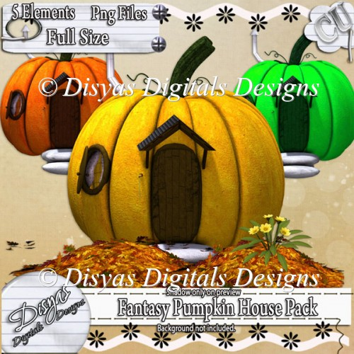 FANTASY PUMPKIN HOUSE PACK - Click Image to Close